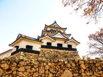 Hikone castle with blue sky, Shiga, Japan 2 Stock Photography
