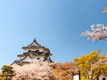 Hikone castle with blue sky, Shiga, Japan 3 Royalty Free Stock Image