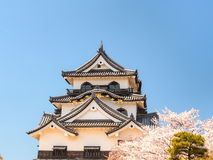 Hikone castle with blue sky, Shiga, Japan 4 Stock Photos