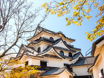 Hikone castle with blue sky, Shiga, Japan 5 Royalty Free Stock Photography