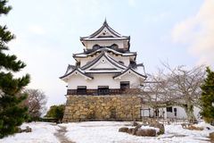 Hikone Castle in Winter Royalty Free Stock Image