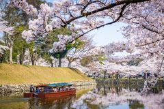 HIkone, Japan Castle Moat Royalty Free Stock Images
