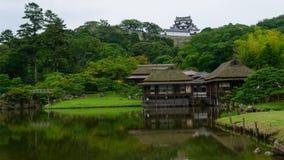 Hikone kasztel w Shiga, Japonia Zdjęcia Royalty Free