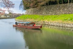 Hikone moat boat stock photos