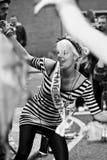 hil танцы notting внешняя женщина улицы стоковая фотография