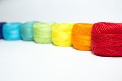Hilado multicolor imagen de archivo libre de regalías