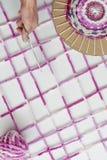 Hilados de lana coloreados Imagen de archivo libre de regalías