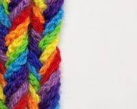 Hilados de lanas de diversos colores Fotografía de archivo