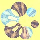 Hilandero azul artístico abstracto de la flor Fotografía de archivo libre de regalías