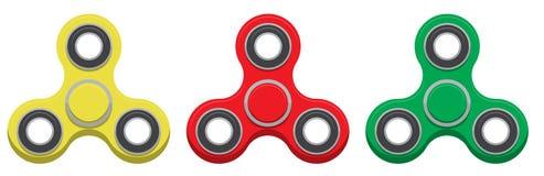 hilandero Nuevo juguete antiesfuerzo popular Ilustración del vector stock de ilustración