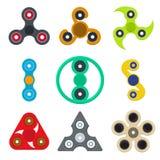 Hilandero Toy Color Icons Set de la historieta Vector Libre Illustration