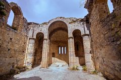 Hilarion castle ruins, Northern Cyprus. Wery old Hilarion castle ruins, Northern Cyprus stock photo