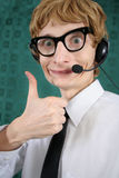 Hilarious customer service Royalty Free Stock Image