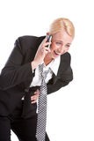 Hilarious phonecall Royalty Free Stock Photos
