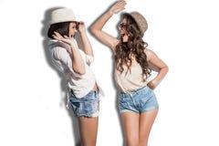 Hilarious summer fashion women Stock Images