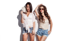 Hilarious summer fashion women Stock Image
