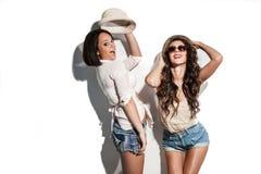 Hilarious summer fashion women Royalty Free Stock Photo
