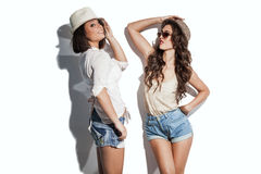 Hilarious summer fashion women Royalty Free Stock Photos