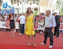 Hilary Swank al Giffoni Film Festival 2011 lizenzfreie stockfotos