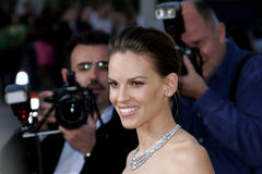Hilary Swank. Attends the Los Angeles Premiere of The Reaping held at the Mann Village Theater in Westwood, CA on 03/29/07 royalty free stock image