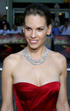 Hilary Swank. Attends the Los Angeles Premiere of The Reaping held at the Mann Village Theater in Westwood, CA on 03/29/07 royalty free stock photos