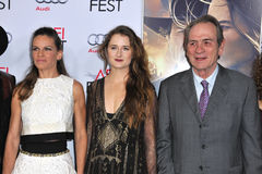 Hilary Swank & Grace Gummer & Tommy Lee Jones Royalty Free Stock Images