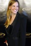Hilary Swank op het rode tapijt stock afbeelding