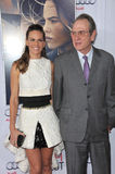 Hilary Swank & Tommy Lee Jones. LOS ANGELES, CA - NOVEMBER 11, 2014: Hilary Swank & Tommy Lee Jones at the gala screening of their movie The Homesman as part of Stock Photos