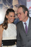 Hilary Swank & Tommy Lee Jones. LOS ANGELES, CA - NOVEMBER 11, 2014: Hilary Swank & Tommy Lee Jones at the gala screening of their movie The Homesman as part of Royalty Free Stock Image