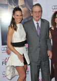Hilary Swank & Tommy Lee Jones. LOS ANGELES, CA - NOVEMBER 11, 2014: Hilary Swank & Tommy Lee Jones at the gala screening of their movie The Homesman as part of Royalty Free Stock Photography