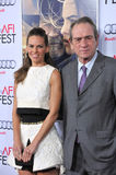 Hilary Swank & Tommy Lee Jones. LOS ANGELES, CA - NOVEMBER 11, 2014: Hilary Swank & Tommy Lee Jones at the gala screening of their movie The Homesman as part of Stock Images