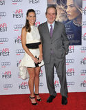Hilary Swank & Tommy Lee Jones. LOS ANGELES, CA - NOVEMBER 11, 2014: Hilary Swank & Tommy Lee Jones at the gala screening of their movie The Homesman as part of Stock Image
