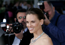 Hilary Swank. 3/29/2007 - Westwood - Hilary Swank attends the Los Angeles Premiere of The Reaping held at the Mann Village Theater in Westwood, California royalty free stock photo