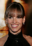 Hilary Swank. WESTWOOD, CALIFORNIA. Thursday January 4, 2007. Hilary Swank attend the Los Angeles of `Freedom Writers` held at the Mann Village Theater in royalty free stock photo