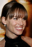 Hilary Swank. WESTWOOD, CALIFORNIA. Thursday January 4, 2007. Hilary Swank attends the Los Angeles of `Freedom Writers` held at the Mann Village Theater in royalty free stock photography
