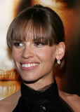 Hilary Swank. WESTWOOD, CALIFORNIA. Thursday January 4, 2007. Hilary Swank attends the Los Angeles of `Freedom Writers` held at the Mann Village Theater in royalty free stock photos