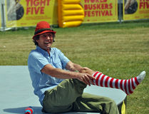 Hilby The Skinny German Juggle Boy at World Buskers Festival stock photo