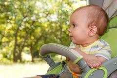 Hild ¡ Ð в дне прогулочной коляски солнечном Стоковые Фото