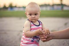 Сhild-daddy-hand Royalty Free Stock Photo