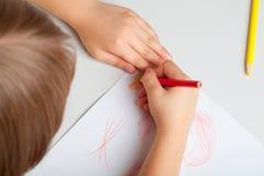 Сhild draws Stock Images