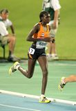 Hilda Kibet of Netherlands. Competes on the Women 10000m final during the 20th European Athletics Championships at the Olympic Stadium on July 28, 2010 in Royalty Free Stock Image
