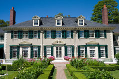 Hildene, historic home in Manchester, Vermont. Historic summer home of Robert Todd Lincoln in Manchester, Vermont royalty free stock photo