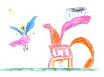 Сhildren's drawings Royalty Free Stock Image