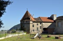 Сhildren's playground in Klosterneuburg. Austria. Stock Photo