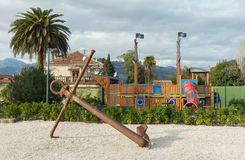 Сhildren's playground in Porto Montenegro. Tivat city, Monteneg Royalty Free Stock Images