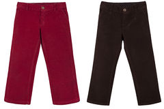 Сhildren's trousers. Children s trousers isolated on a white background Royalty Free Stock Images