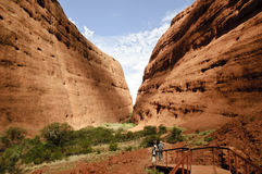 Hilers in Kata Tjuta Stock Photo