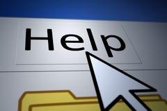Hilfe stock abbildung