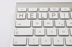HILFE! auf Tastatur stockbilder