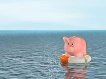 Hilfe an der Finanzkrise stock abbildung